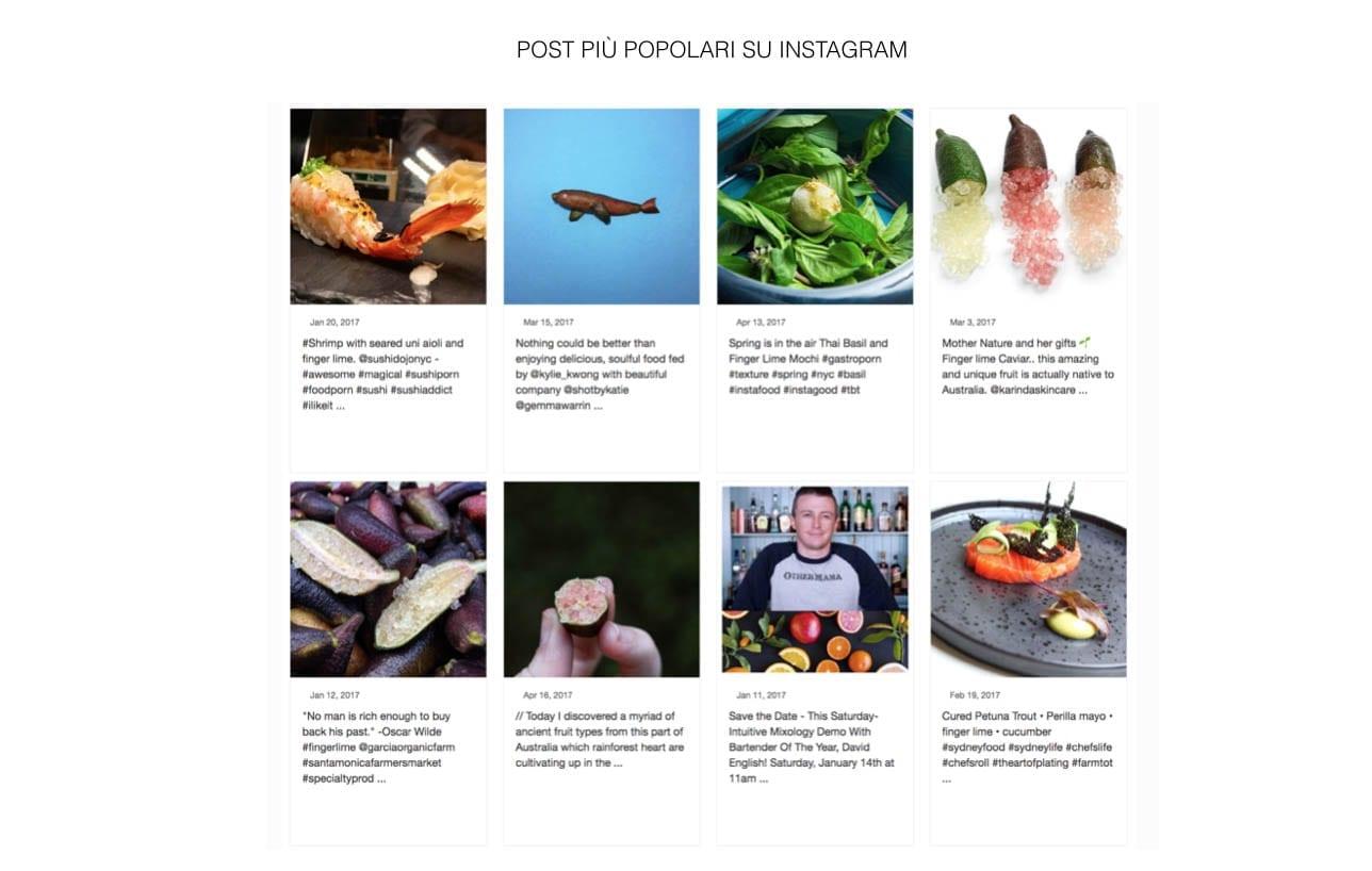 instagram FingerLime indagine di mercato